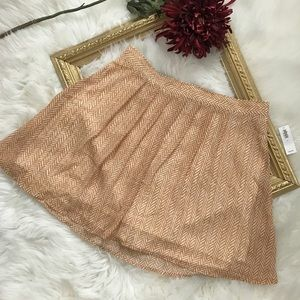 Old Navy Jupe NWT Boho Orange Chevron Mini Skirt